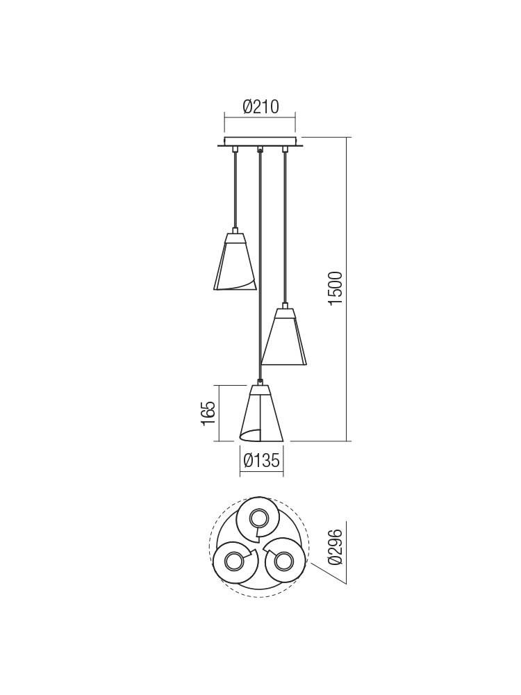 Smarter 01-2194 INDUA lámpa Függeszték