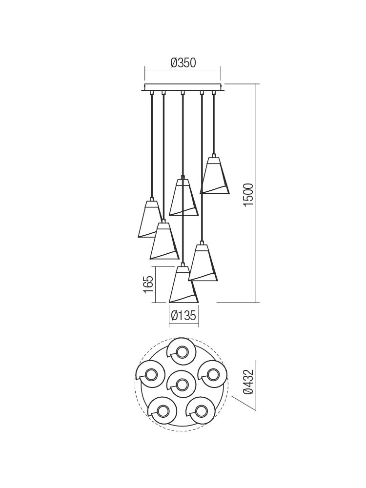 Smarter 01-2195 INDUA lámpa Függeszték