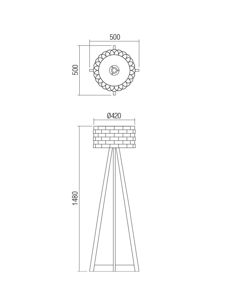 Smarter 01-1843 INGE Állólámpa