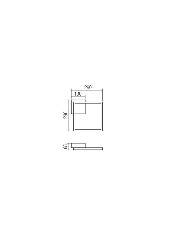 Smarter 01-1637 KLEE LED fali / Mennyezeti lámpa