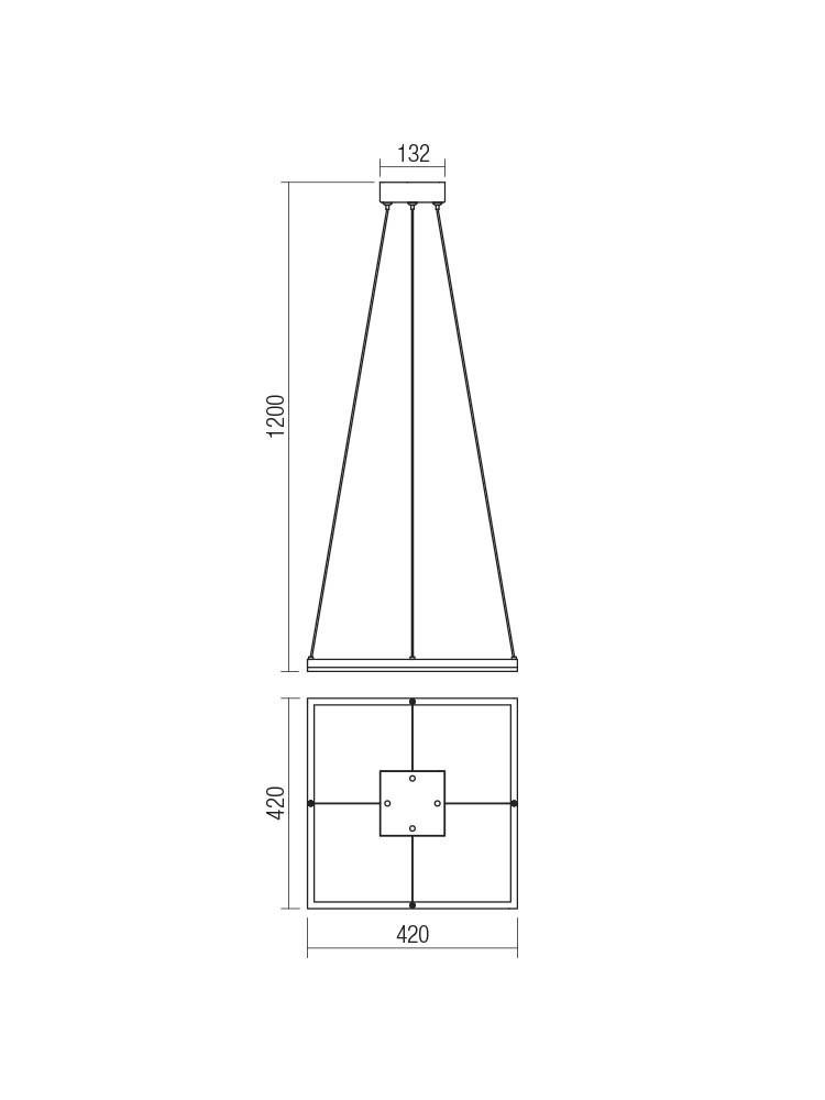 Smarter 01-1647 KLEE LED lámpa Függeszték