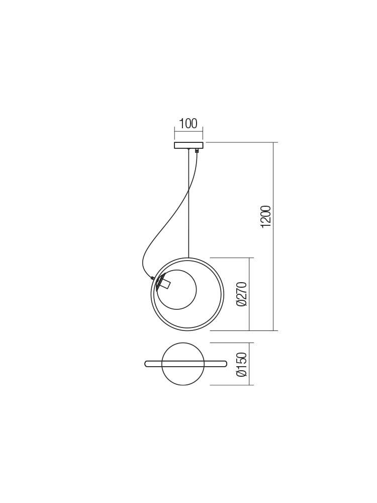 Smarter 01-2319 KLEIDI lámpa Függeszték