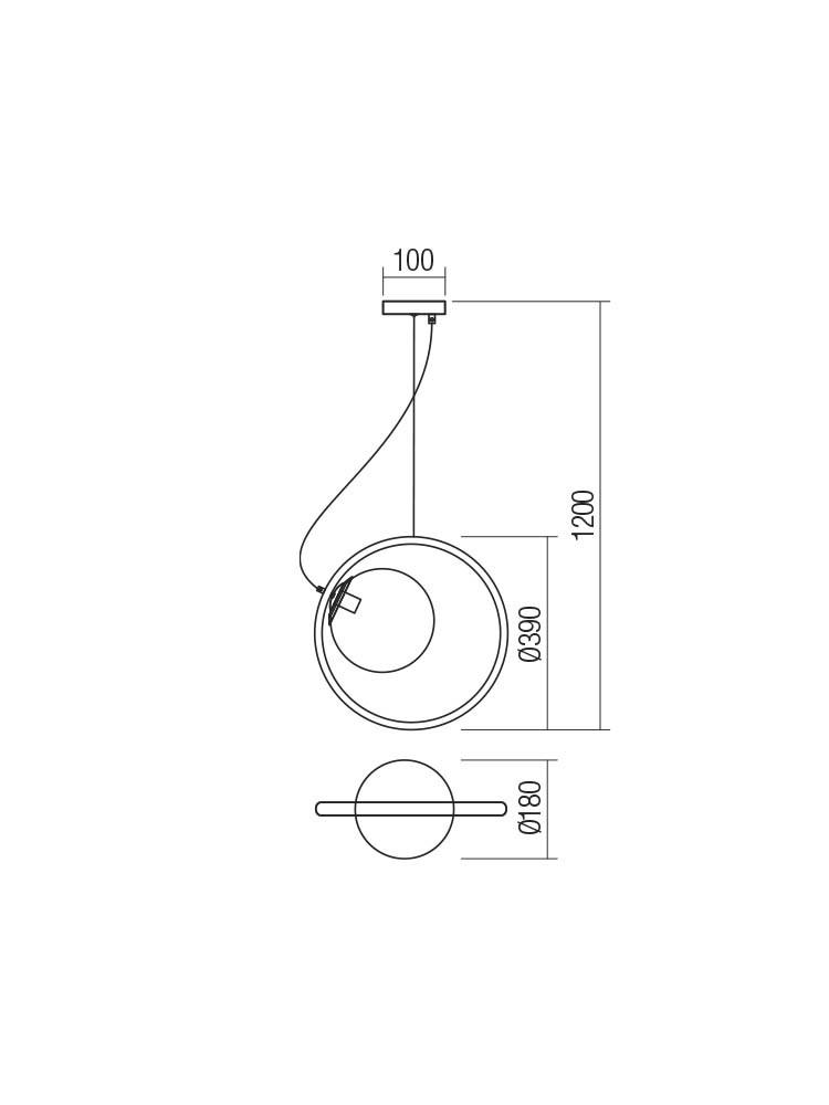 Smarter 01-2321 KLEIDI lámpa Függeszték