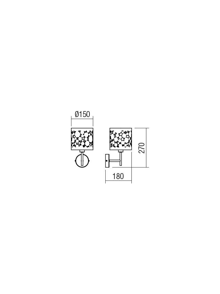 Smarter 01-2137 MELIA Fali lámpa