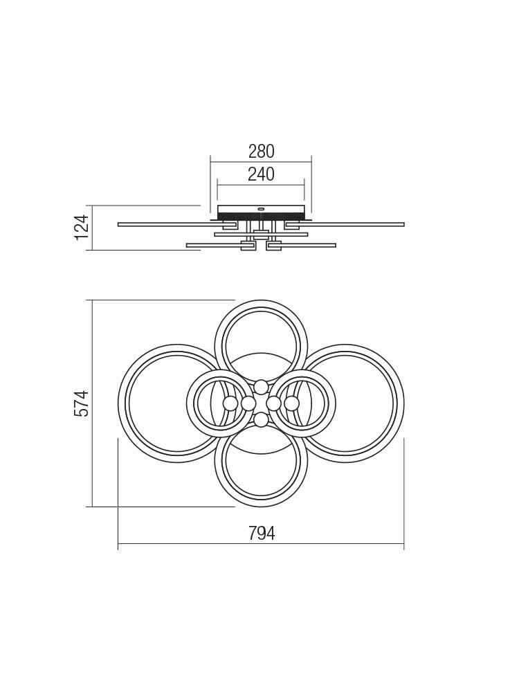 Smarter 01-1764 MERCURY LED Mennyezeti lámpa