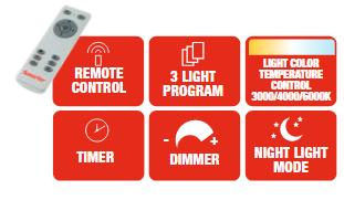 Smarter 01-1763 MERCURY LED Mennyezeti lámpa