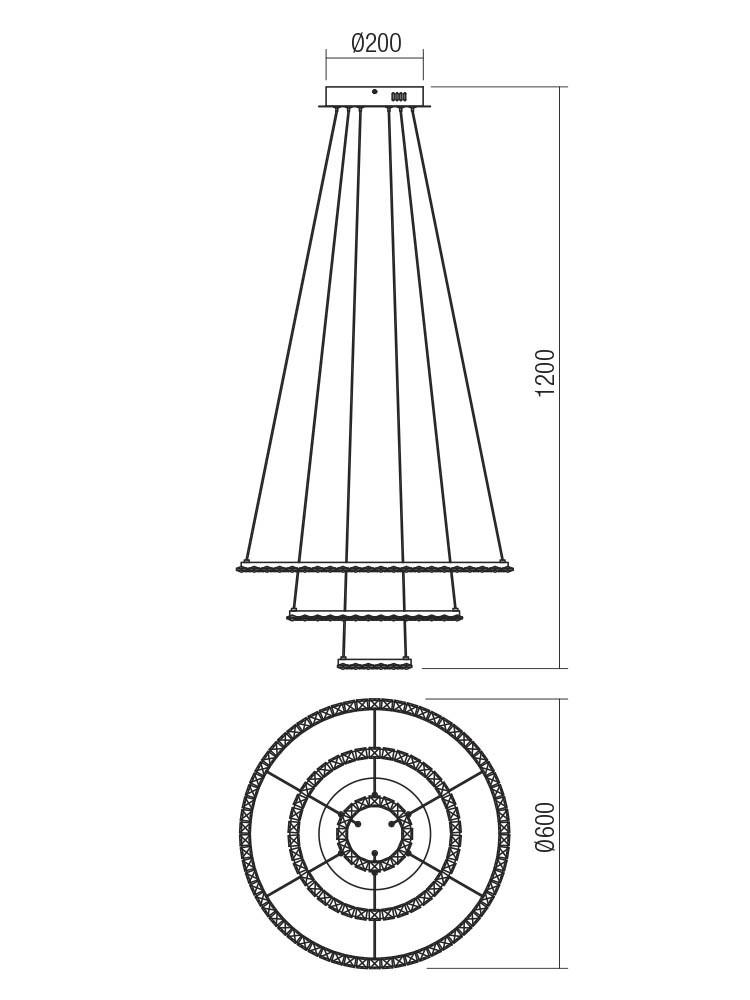 Smarter 01-2173 NUNZIA LED kristály lámpa Függeszték