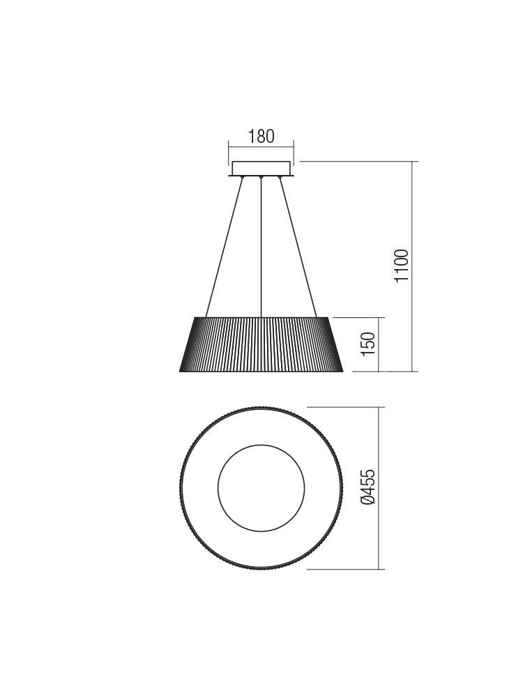 Smarter 01-1938 SARIS LED lámpa Függeszték