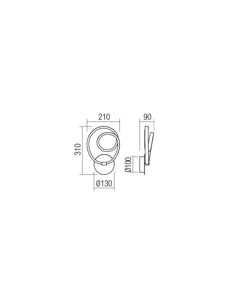 Smarter 01-2188 SINTRA LED Fali lámpa