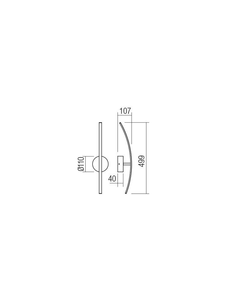 Smarter 01-2182 SPATHA LED Fali lámpa