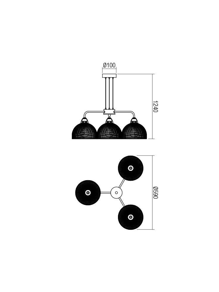 Smarter 01-1573 TAMIS lámpa Függeszték