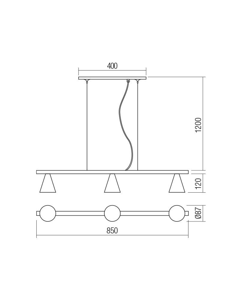Smarter 01-2218 ZUMA lámpa Függeszték