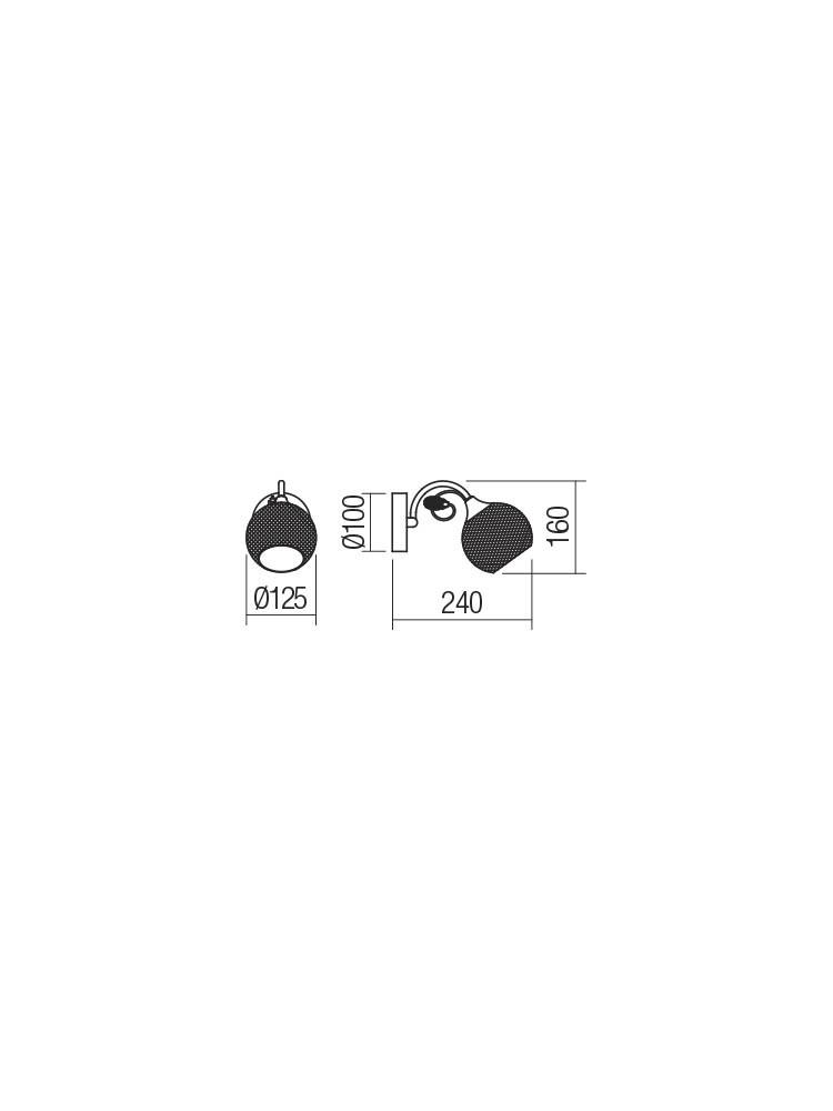 Smarter 02-969 ASPERA Fali lámpa