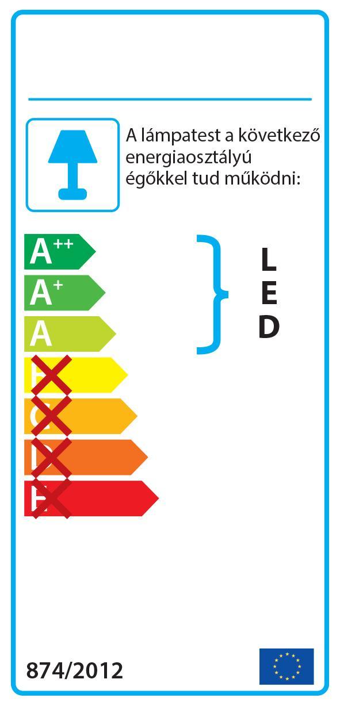 Smarter 02-940 BELLARIA Fali lámpa