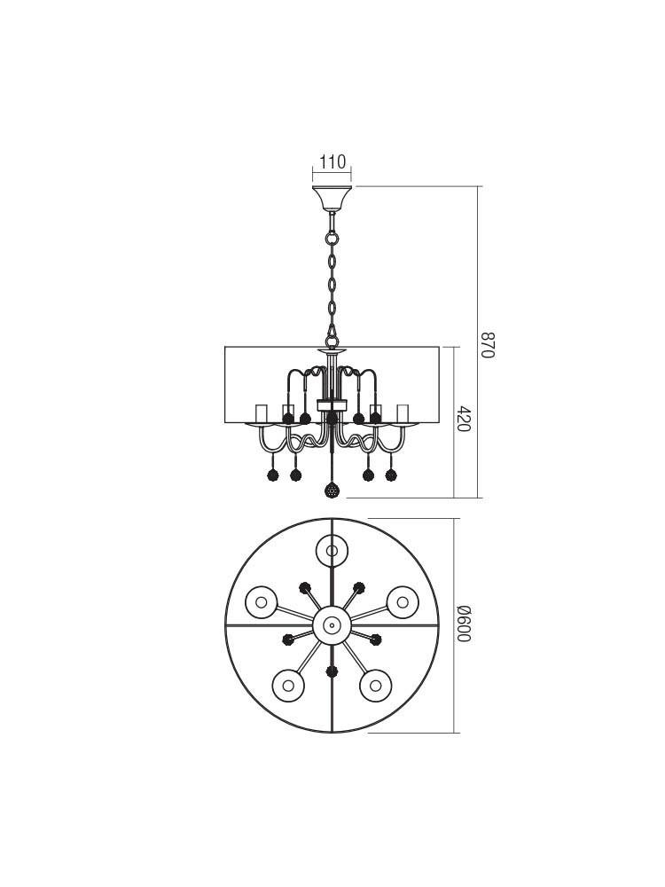 Smarter 02-942 BELLARIA lámpa Függeszték