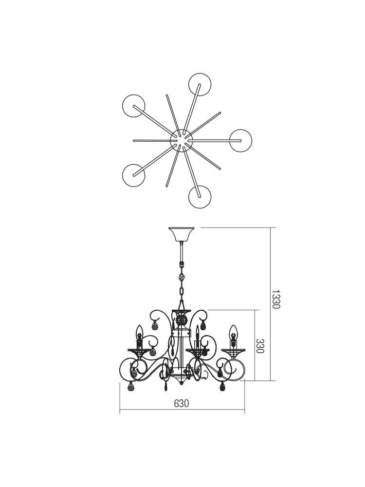 Smarter 02-959 BLANCA csillár lámpa