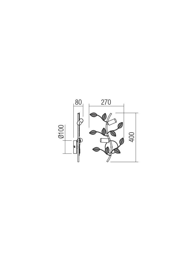 Smarter 02-978 TIARA rusztikus Fali lámpa