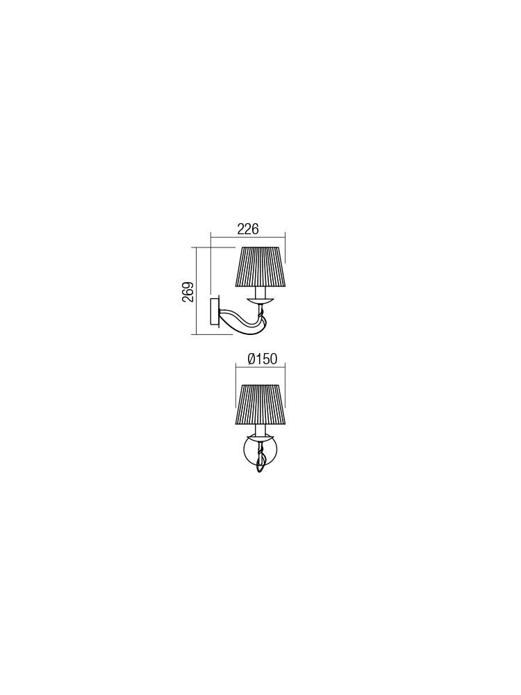 Smarter 02-950 VIRTUU Fali lámpa