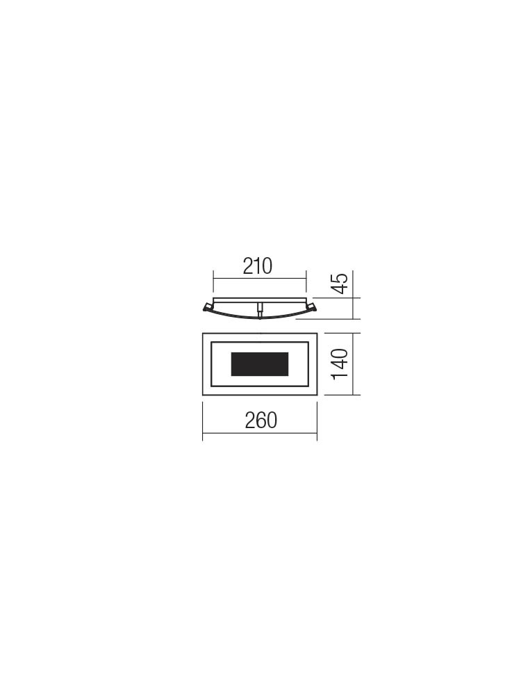 Smarter 05-895 RA LED Fali lámpa