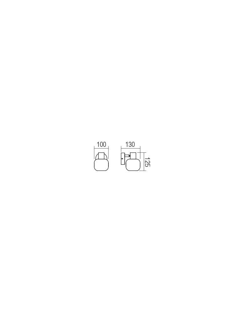 Smarter 04-483 AMBER Fali lámpa