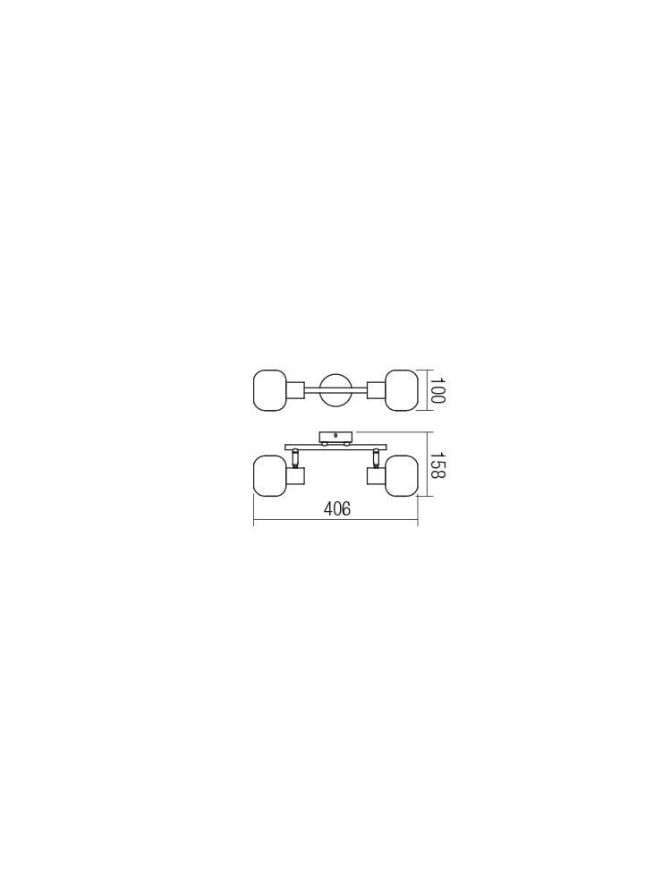 Smarter 04-484 AMBER Fali / mennyezeti lámpa