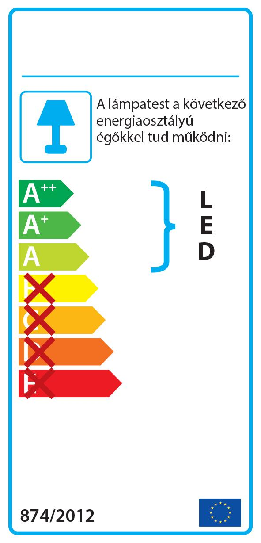 Smarter 04-487 CLOVIS Fali lámpa
