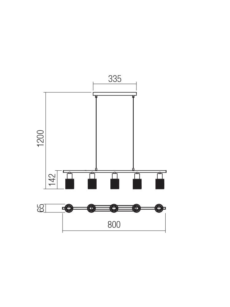 Smarter 04-509 VERTIGO lámpa Függeszték