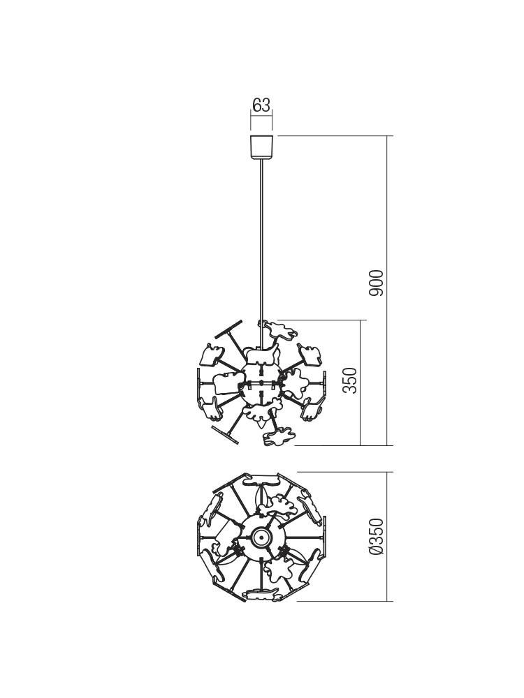 Smarter 04-515 SAFARI lámpa Függeszték