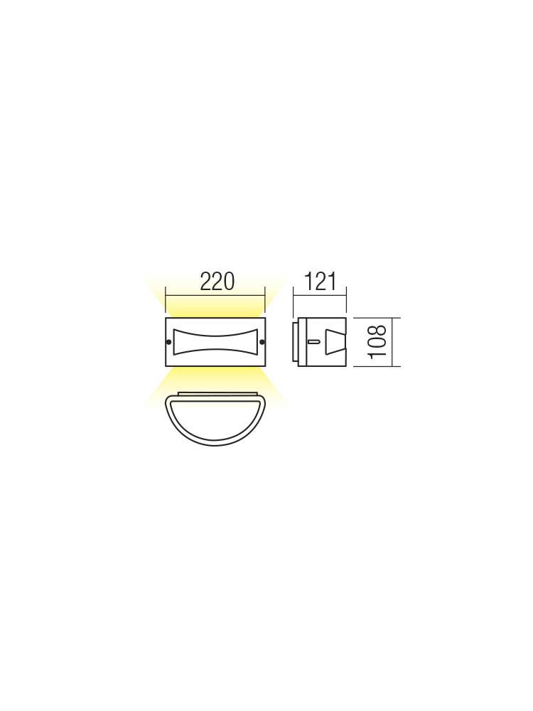 Smarter 90187 ASTI LED Kültéri fali lámpa