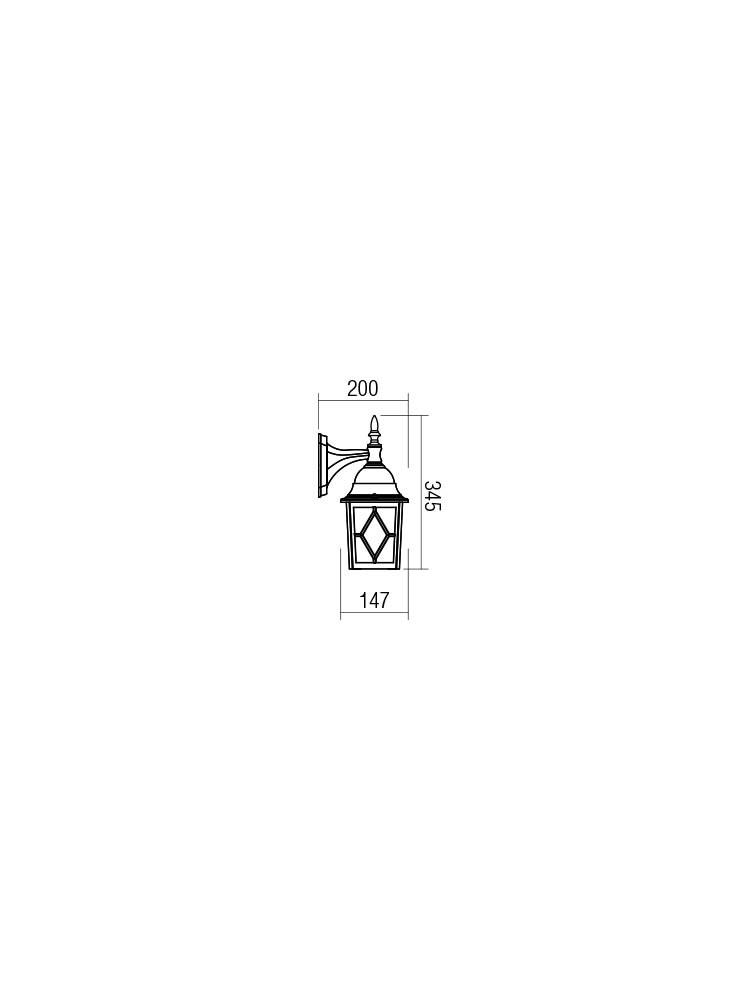 Smarter 9675 MELTON Kültéri fali lámpa