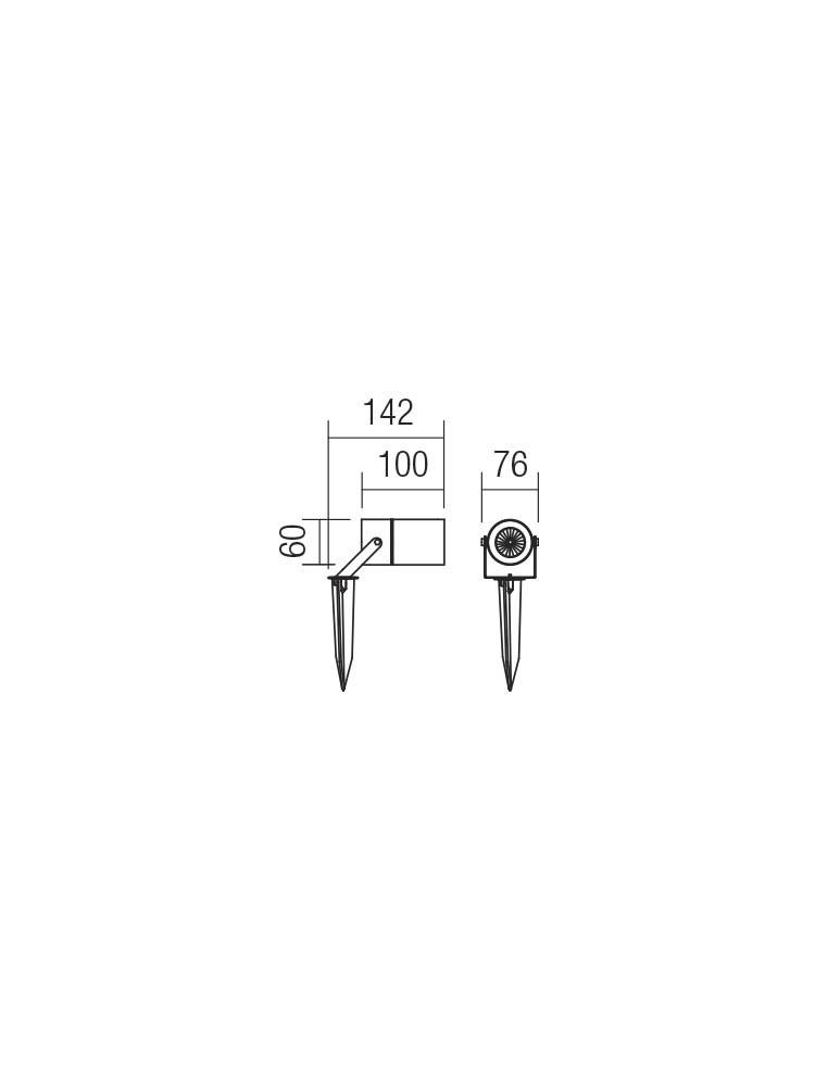 Smarter 90183 PIT Kültéri leszúrható lámpa