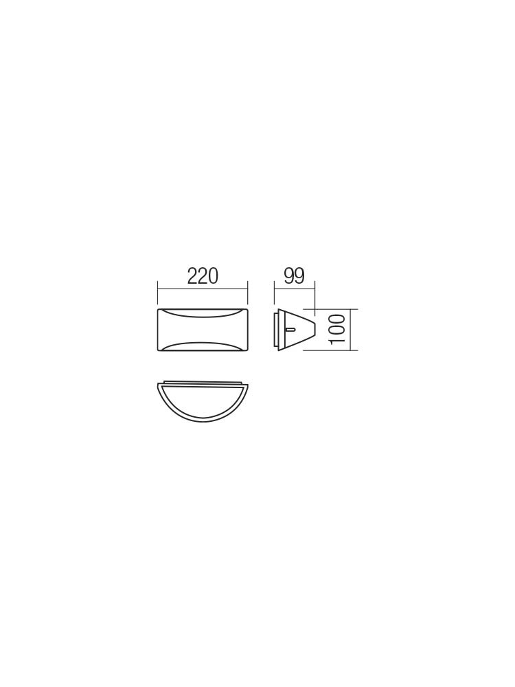 Smarter 90192 SCUDO LED Kültéri fali lámpa