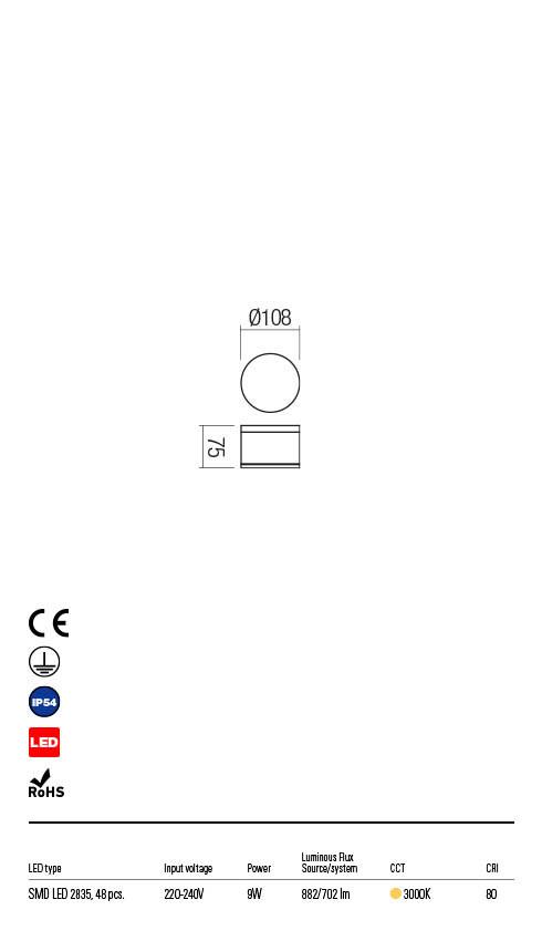 Redo AKRON 90106 LED Kültéri mennyezeti lámpa