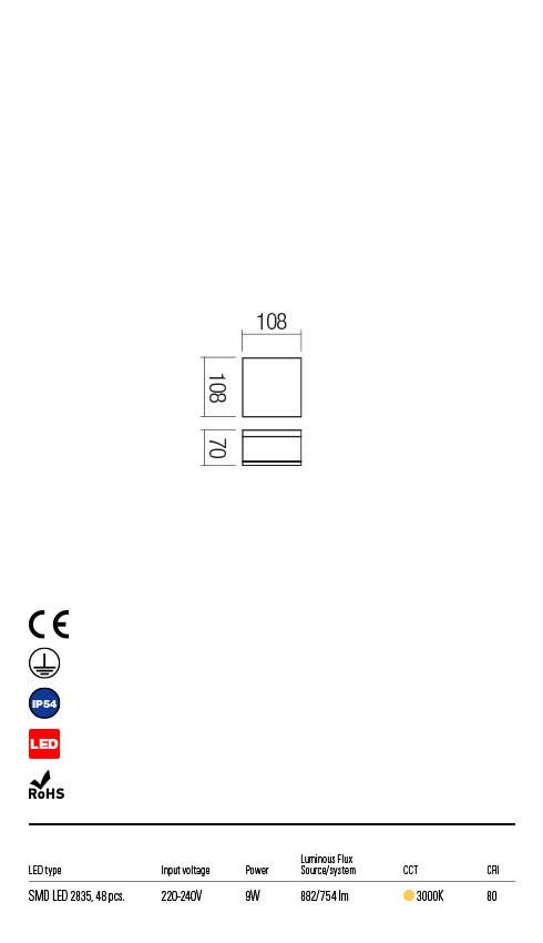 Redo AKRON 90108 LED Kültéri mennyezeti lámpa