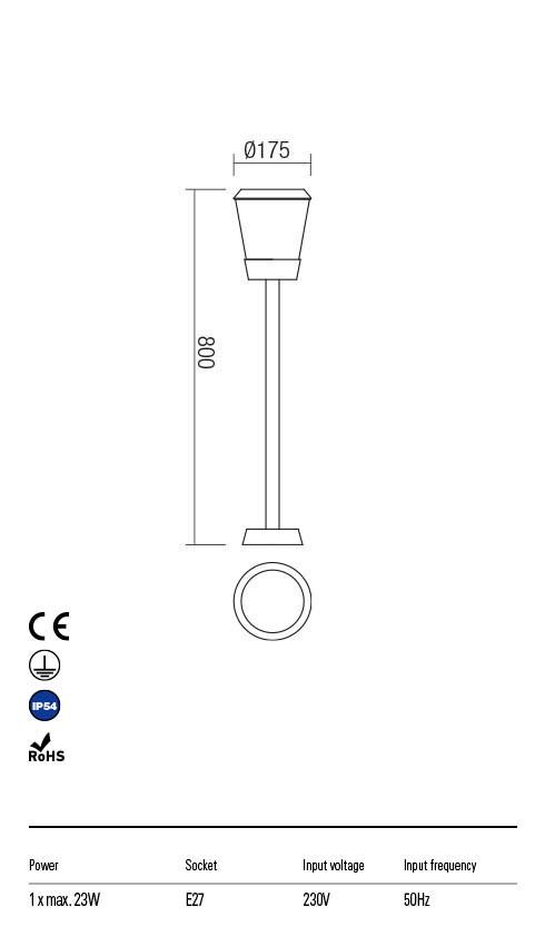 Redo BERT 90112 Kültéri állólámpa