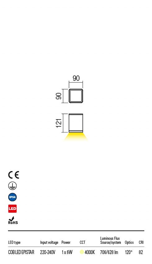 Redo 9199 Beta LED Kültéri mennyezeti lámpa