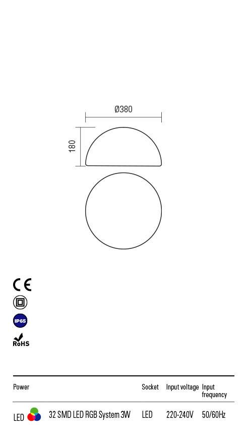 Redo BLOB 90168 LED Kültéri dekorációs lámpa
