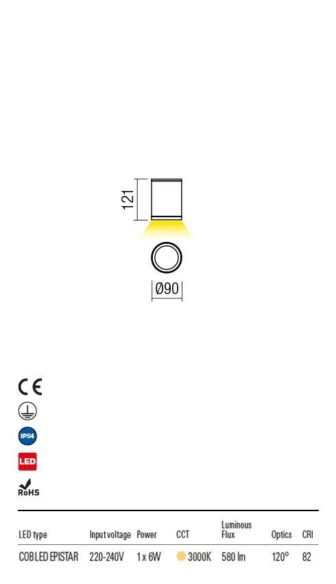 Redo 9063 Eta LED Kültéri mennyezeti lámpa