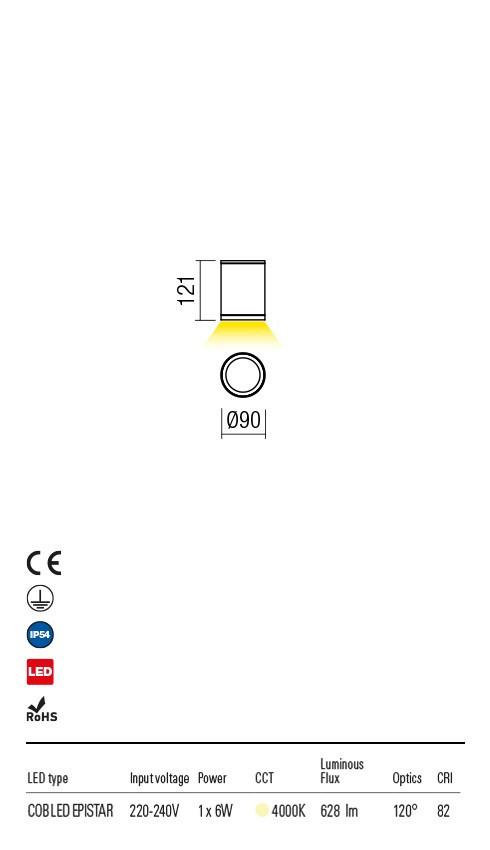 Redo 9599 Eta LED Kültéri mennyezeti lámpa