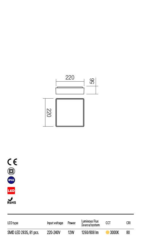 Redo MARINA 90158 LED Kültéri mennyezeti lámpa
