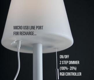 Redo PINO 90166 LED Kültéri asztali lámpa