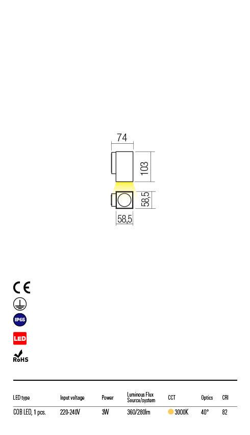 Redo QUAD 90084 LED Kültéri fali lámpa