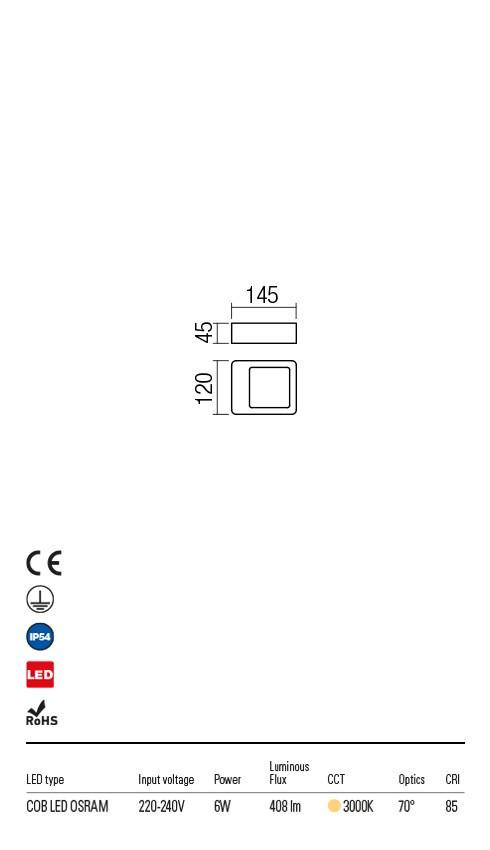 Redo 90012 Radeon LED Kültéri fali lámpa
