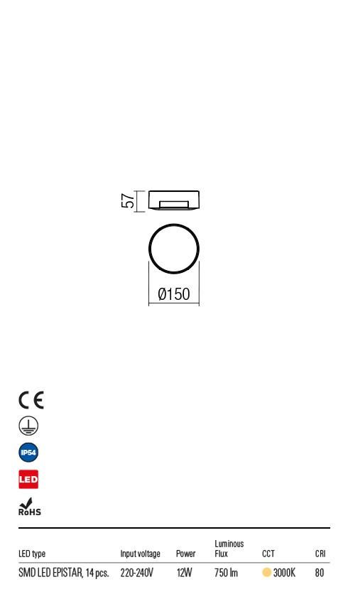 Redo 90004 Skor LED Kültéri mennyezeti lámpa