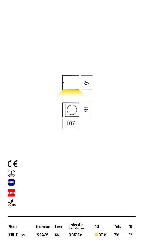 Redo TEKO 90097 LED Kültéri fali lámpa
