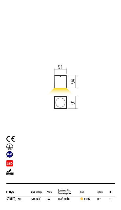 Redo TEKO 90104 LED Kültéri mennyezeti lámpa