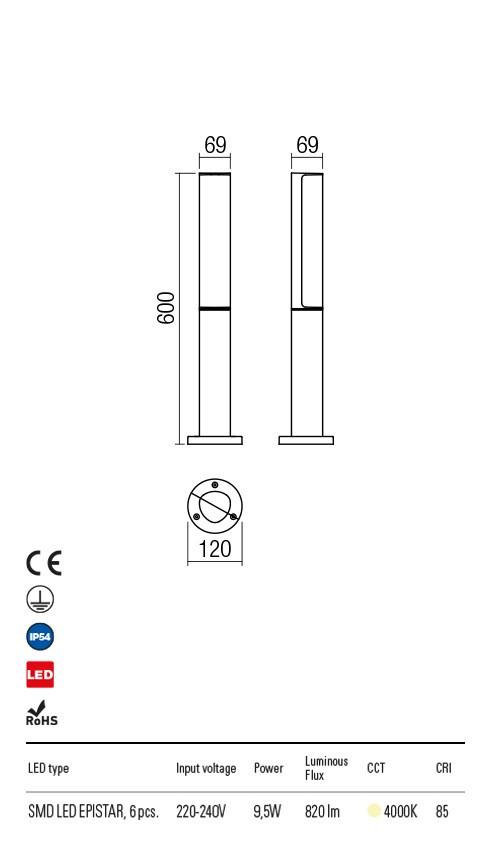 Redo 9589 Troll LED Kültéri állólámpa