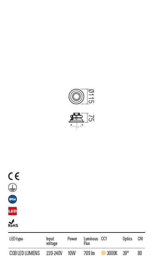 Redo 9585 Xeno LED Kültéri beépíthető spot lámpa