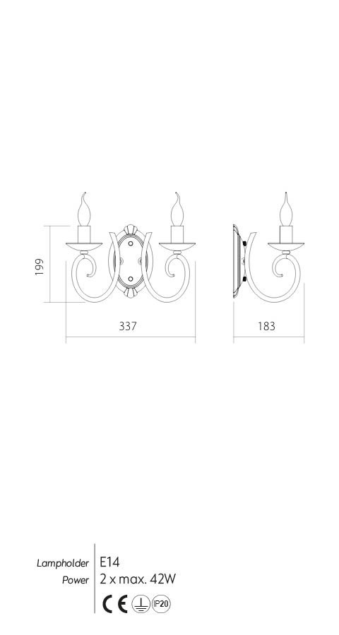 Incanti ICI W2 01 CIRCE Fali lámpa