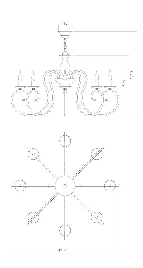 Incanti ICI C8 01 CIRCE Csillár